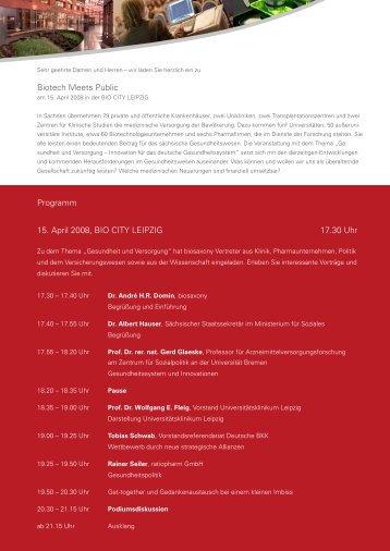 Programm - Über das BBZ - Universität Leipzig