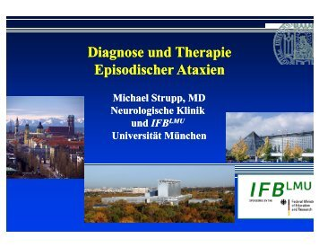 Diagnose und Therapie Episodischer Ataxien Diagnose und ...