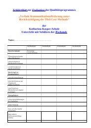 Werkstufe - Katharina-Kasper-Schule