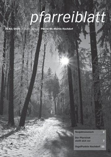 01-02/2010 1. bis 31. Januar Pfarrei St. Martin Hochdorf ...