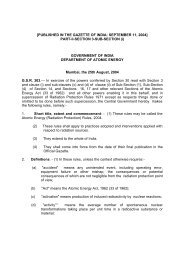 Radiation Protection Rules 2004 - Department of Atomic Energy