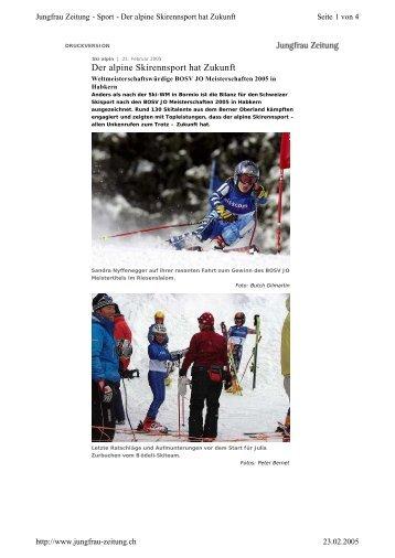 Der alpine Skirennsport hat Zukunft - BOSV JO ... - Bödeli Skiteam
