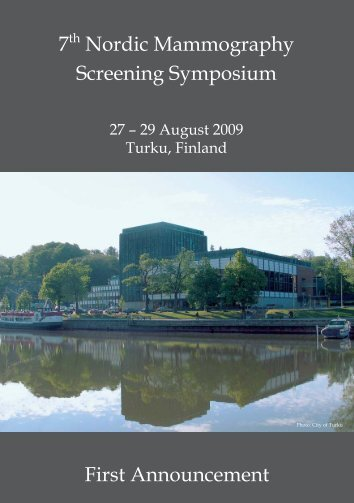 7th Nordic Mammography Screening Symposium First Announcement