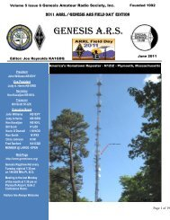 Volume 5 Issue 3 Genesis Amateur Radio Society, Inc