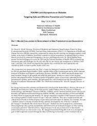 1 FDA/NIH Joint Symposium on Diabetes ... - NIDDK Archives