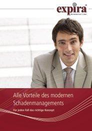 Alle Vorteile des modernen Schaden managements - expira