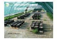 Monitoring and Experiments - Lehrstuhl für Biogeografie