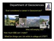 pdf presentation - UTEP Geological Sciences