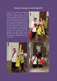 Kinderkreuzweg 2013 - Katholische Pfarrei St. Andreas in ...