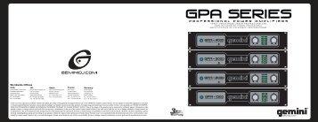 GPA Series - Produktinfo.conrad.com
