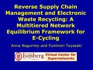Reverse Supply Chain Management and Electronic Waste Recycling