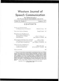 Relationships between vocal activity and perception of - James C ...