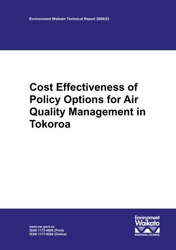 Cost Effectiveness of Policy Options for Air Quality Management in ...
