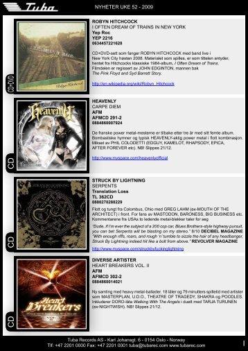 CD CD CD+DVD CD - Tuba Records
