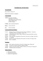 February 2013 Curriculum Vitae – Dr. Peter Werner Personal Details ...