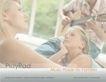 View the PlayPad presentation. - Jason Cornwell - Portfolio