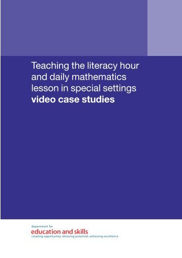 Teaching the literacy hour and daily mathematics lesson in ... - PGCE