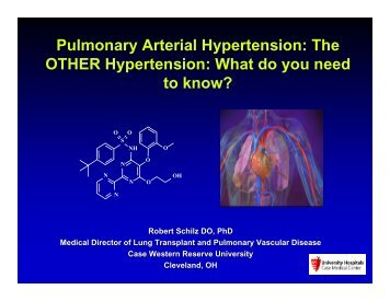Pulmonary Arterial Hypertension: The OTHER Hypertension: What ...
