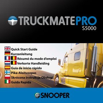 Quick Start Guide Kurzanleitung Résumé du mode d ... - Truckmate