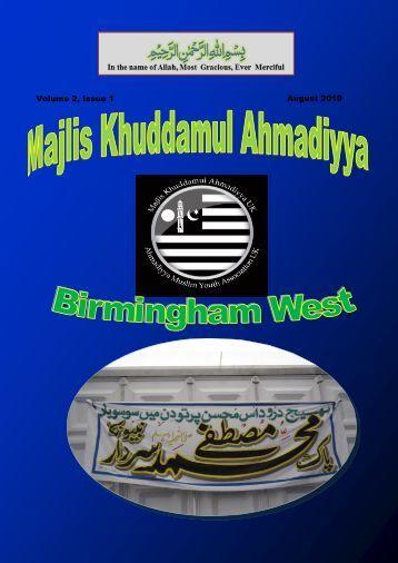 August 2010 Volume 2, Issue 1 - Majlis Khuddamul Ahmadiyya UK ...