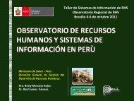 Observatorio de RHS y Sistemas de Información de Perú