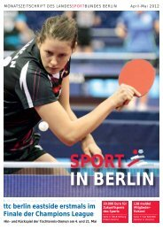 SPORT IN BERLIN - Landessportbund Berlin