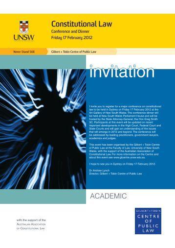 Academic - Gilbert + Tobin Centre of Public Law - University of New ...