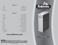 Fellowes Powershred® Strip Cut Shredder C-120 Brochure