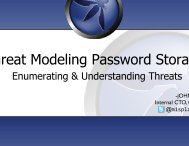 Threat modeling - Secure Application Development