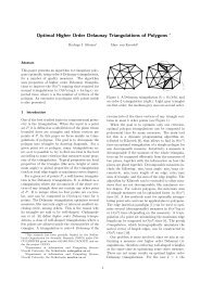 Optimal Higher Order Delaunay Triangulations of Polygons ∗