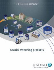 Coaxial switching products - MPS Electronic