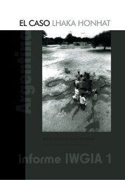 informe 1 iwgia: argentina, el caso lhaka honhat - IIDH