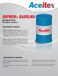 suprem+ gasolina sae 20w-50 api sl aplicaciones: seguridad e ...