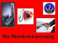 Die Blutdruckmessung
