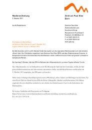 Medienmitteilung «Musemüntschi - Zentrum Paul Klee