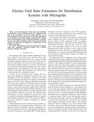 Electric Grid State Estimators for Distribution Systems with Microgrids