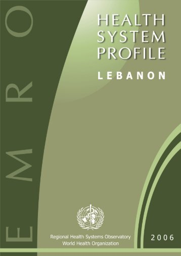 Lebanon : Complete Profile - What is GIS - World Health Organization