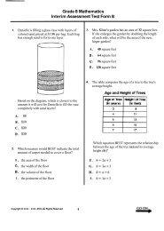 Grade 8 Mathematics Interim Assessment Test Form B