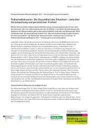 Podiumsdiskussion: Die Gesundheit des Einzelnen – zwischen ...