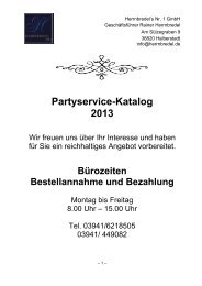 Catering und Party-Katalog