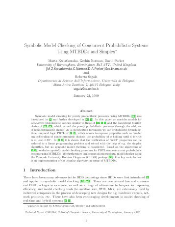 Symbolic Model Checking of Concurrent Probabilistic ... - PRISM