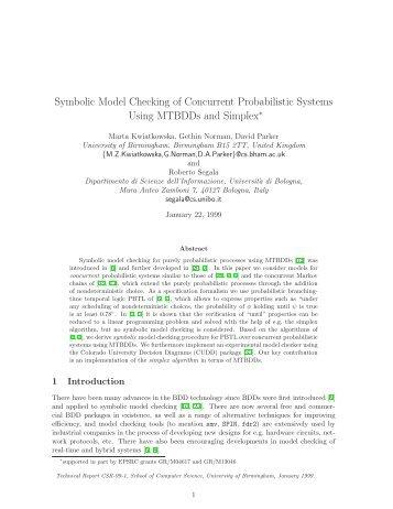 Symbolic Model Checking of Concurrent Probabilistic ... - PRISM