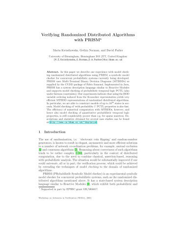 View - Quantitative Analysis and Verification