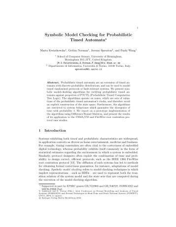 Symbolic Model Checking for Probabilistic Timed Automata*