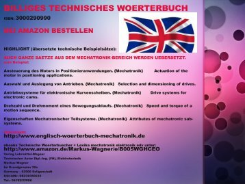 Infografik Technisches Woerterbuch (Flyer deutsch-englisch Technik-Saetze