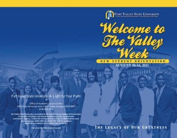 AUGUST 10-14, 2011 - Fort Valley State University