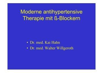 Moderne antihypertensive Therapie mit Beta ... - Ww-kardio-do.de
