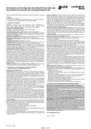 Information zum Vertrag über eine airberlin Visa Card