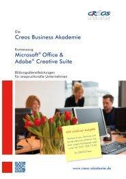 Creos Business Akademie Microsoft® Office & Adobe® Creative Suite
