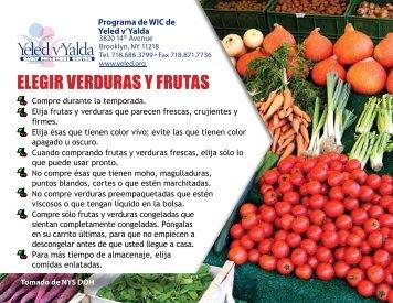 ELEGIR VERDURAS Y FRUTAS - Yeled.org